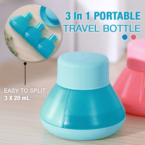 3 In 1 Portable Travel Bottle