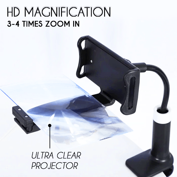 360° HD Phone Screen Projector Clip