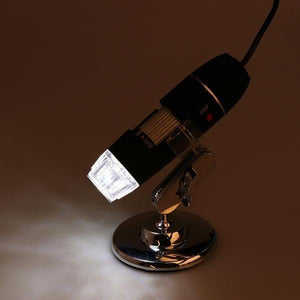 USB Digital Microscope Zoom Camera - 1000× Magnification with 8 Led - Clevativity
