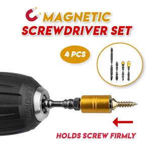 Magnetic Screwdriver Bit Set (Set of 4)
