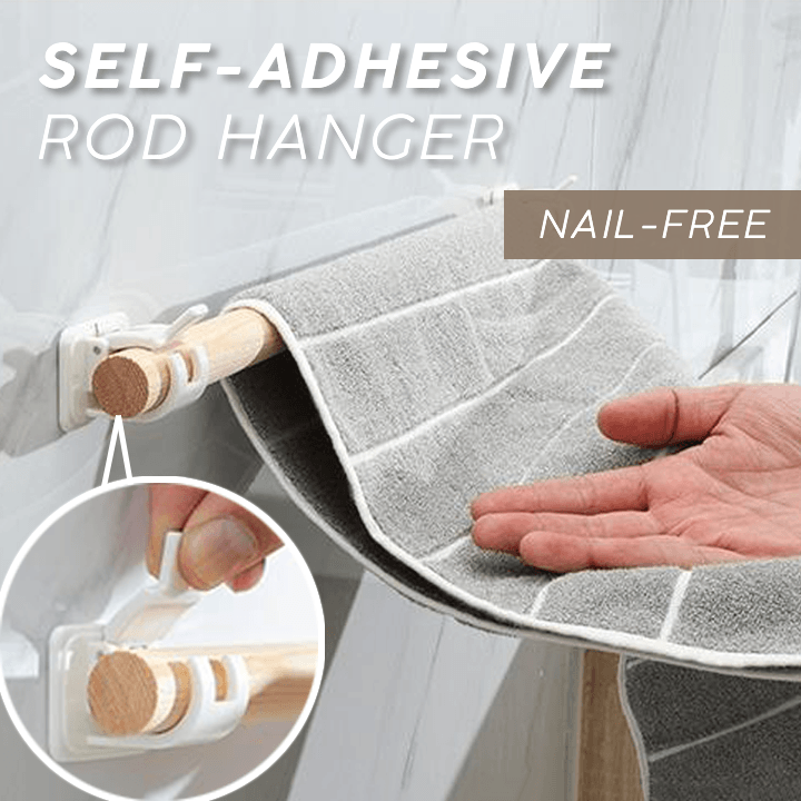 Self-Adhesive Rod Hanger (4 PCS)