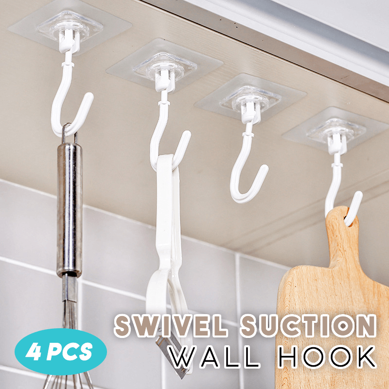 Swivel Suction Wall Hook (Set of 4)