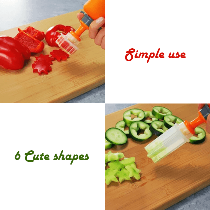 Vegetable & Fruit Shape Pop Cutter - Clevativity