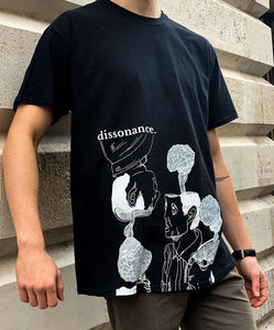 Black Dissonance Tee - Mykes Lab clothing streetwear tshirt tee sweater hoodie garments