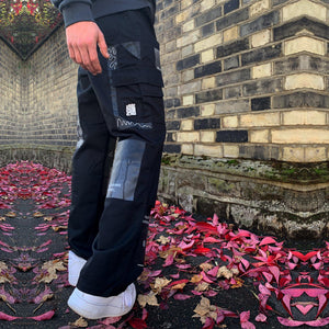 Black Sea Cargo Trousers - Mykes Lab