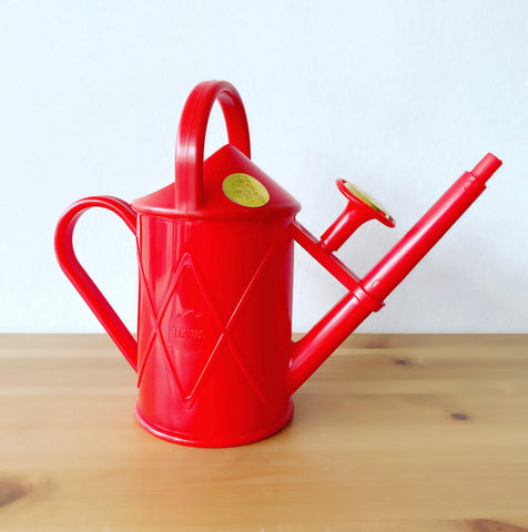 Red Recycled Plastic Watering Can