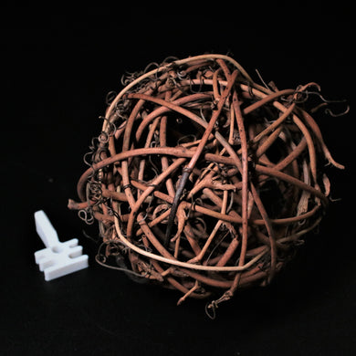 Dark Wicker Nest Ball