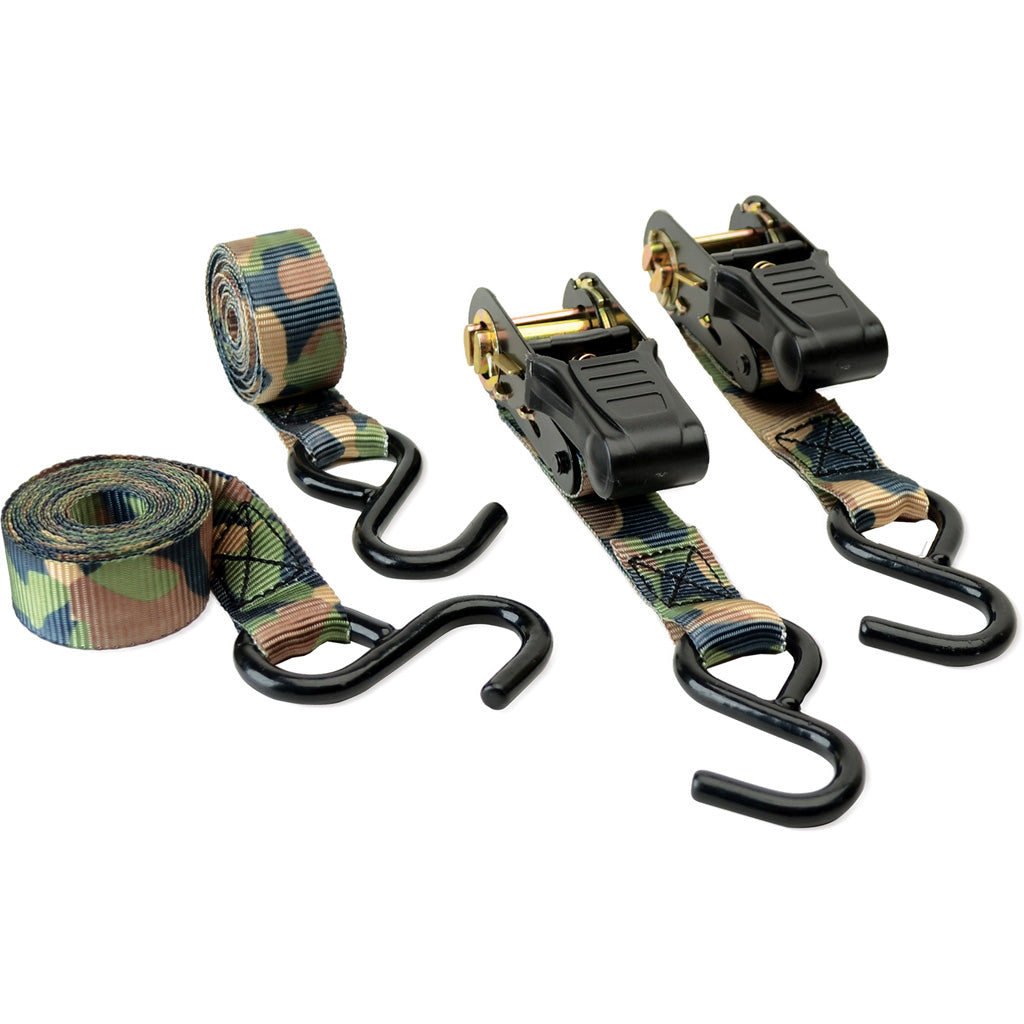 Hme Ratchet Tie Down Camo 4 Pk. - Outdoor Solutions And Services Crack In A Sack Oss Feed