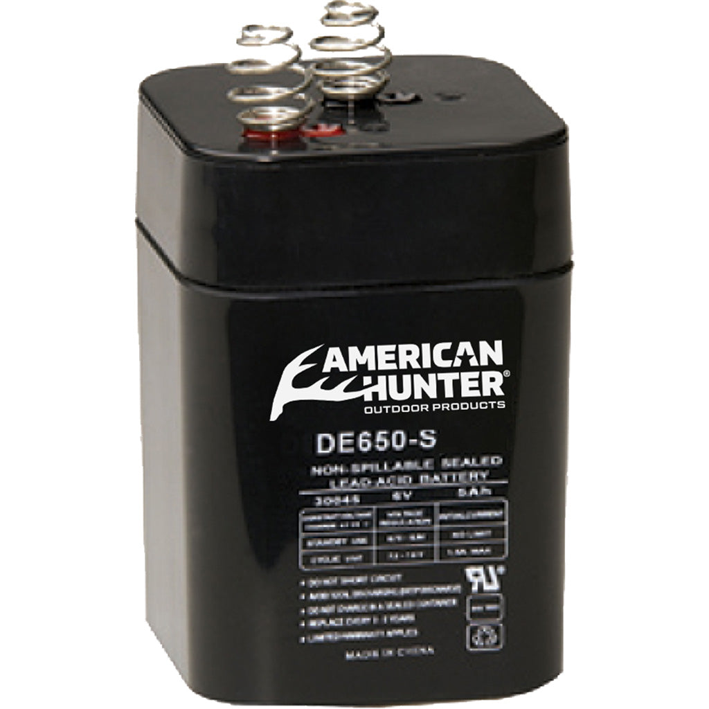 American Hunter Rechargeable Battery 6v Spring Top - Outdoor Solutions And Services Crack In A Sack Oss Feed