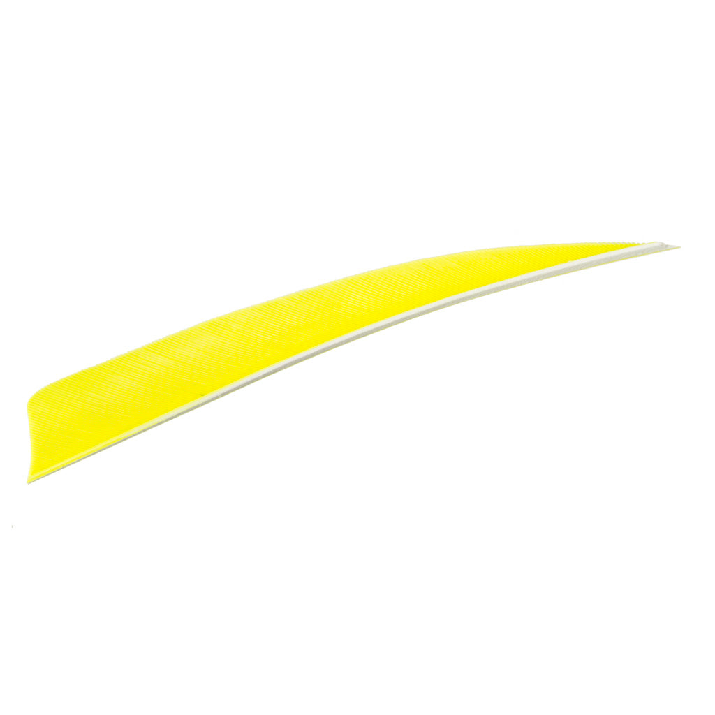 Trueflight Shield Cut Feathers Chartreuse 4 in. LW 100 pk. - Outdoor Solutions And Services Crack In A Sack Oss Feed