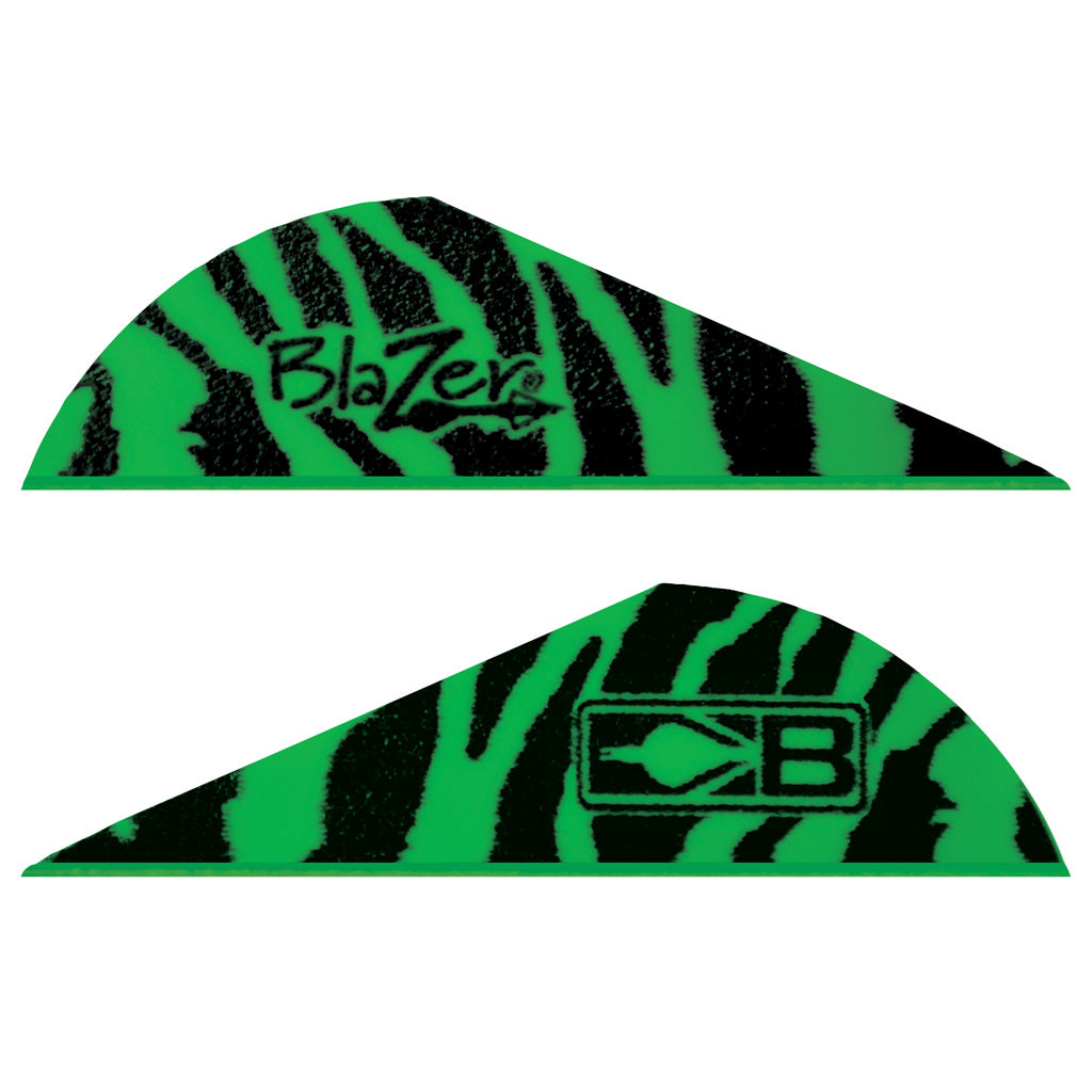 Bohning Blazer Vanes Green Tiger 100 pk. - Outdoor Solutions And Services Crack In A Sack Oss Feed