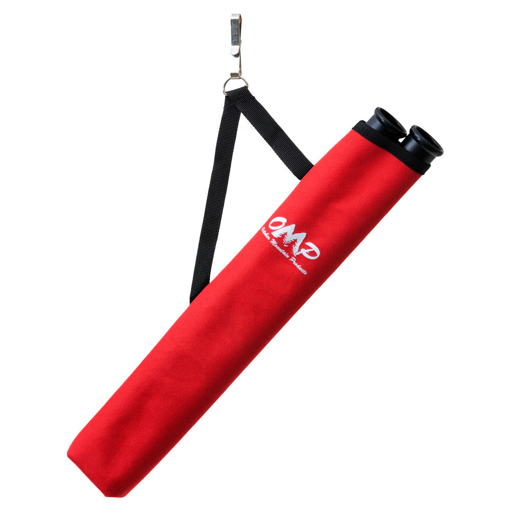 October Mountain Hip Quiver 2-tube Red Rh-lh - Outdoor Solutions And Services
