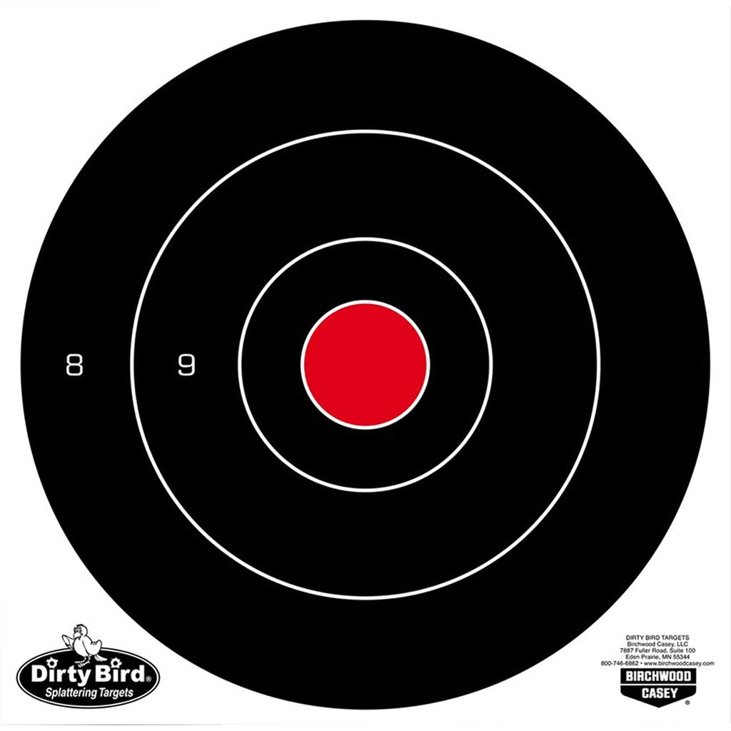 Birchwood Casey Dirty Bird Target Bullseye 8 In. 25 Pk. - Outdoor Solutions And Services Crack In A Sack Oss Feed