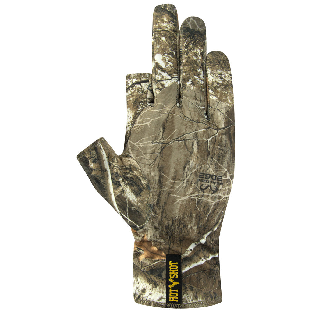 Hot Shot Copperhead Stretch Glovesrealtree Edge Osfa - Outdoor Solutions And Services Crack In A Sack Oss Feed