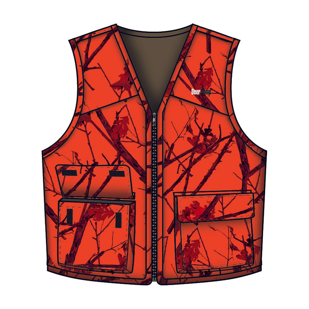 Gamehide Deer Camp Vestwoodlot Blaze 2x-large - Outdoor Solutions And Services Crack In A Sack Oss Feed