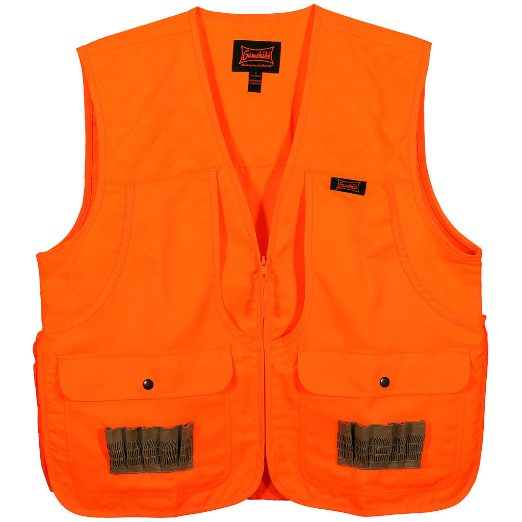 Gamehide Frontloader Vestblaze Orange Youth Medium - Outdoor Solutions And Services Crack In A Sack Oss Feed