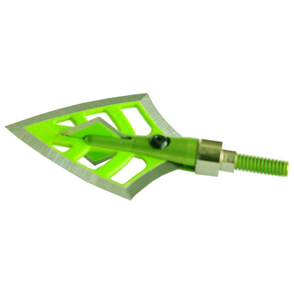 Dirt Nap Gear Drt Broadheads Double Bevel Green 100-125 Gr. 3 Pk. - Outdoor Solutions And Services