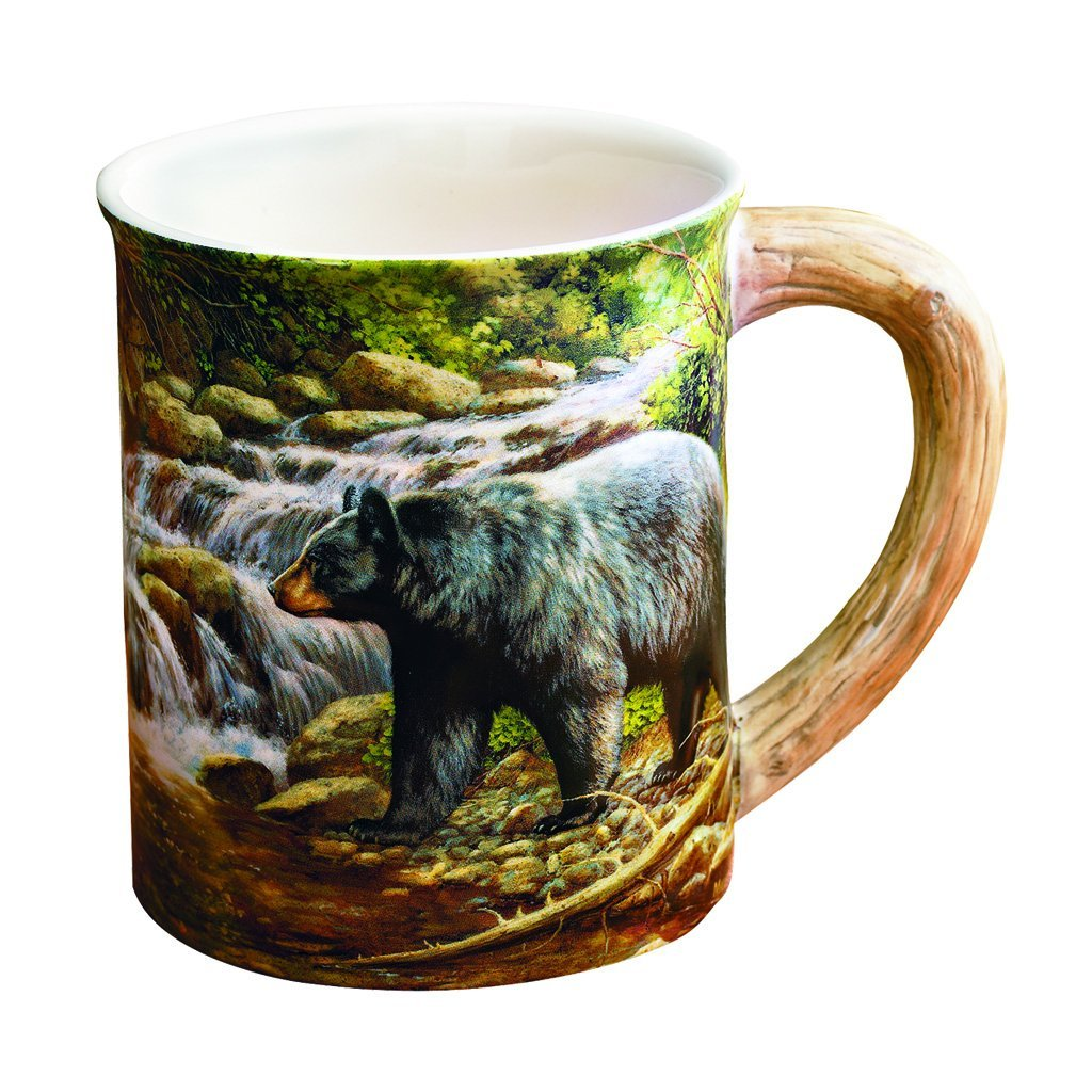 Wild Wings Sculpted Mug Shadow Of The Forest Bear - Outdoor Solutions And Services