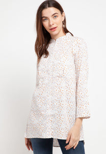ARIANA Floral White Blouse 390381