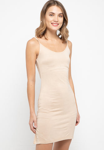 Beige Basic Knit Tank - 182541