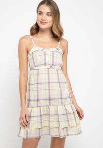 Claretta Plaids Dress - 5148072