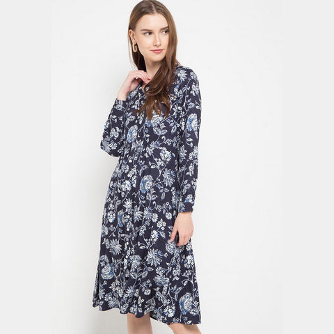 DAHLIA Blue Flower dress - 382181