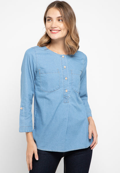 Debbie Denim Blouse - 381581