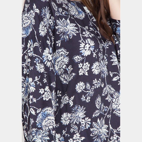DOROTHY Floral Navy Blouse - 384981