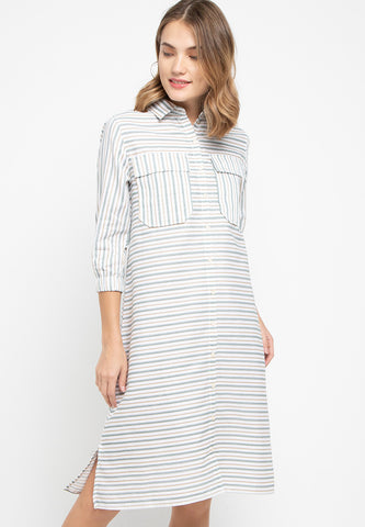 Dustyn Stripe Dress - 381081