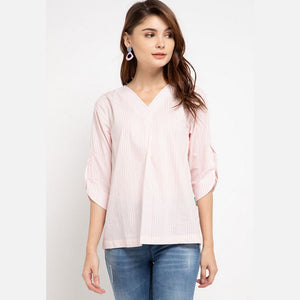 DANIELA Peach Blouse -  386181