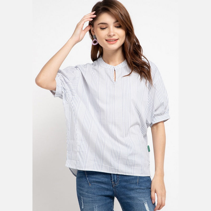 DOLITA Stripe Blue Blouse - 386080