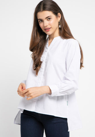 FANNY Blouse Hi Low White - 389181