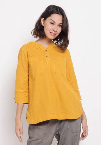 FRANCINE Yellow Blouse 395381