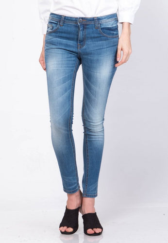 Mandy Blue Marine Midrise Skinny jeans - 297561  - Point One