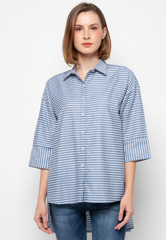 Point One JAKLYN Stripe Blouse - 393981
