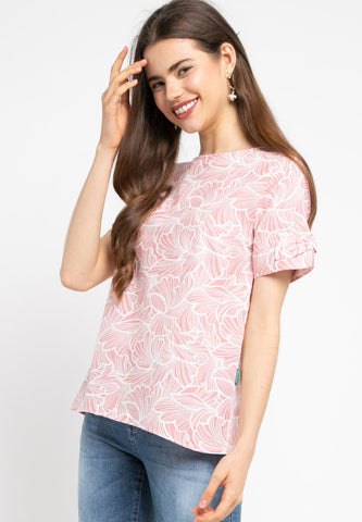 JOSELYN Floral Blouse Pink- 392780