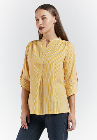 NATASHA Stripe Blouse Yellow 395581