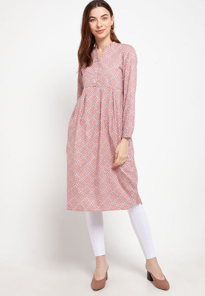 NELLY Heritage pink Dress 390973