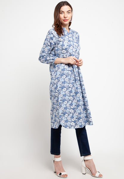 NELLY Floral Blue Dress 391673