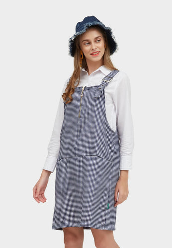 Odilia Blue Plaid Overall - 361776  - Point One