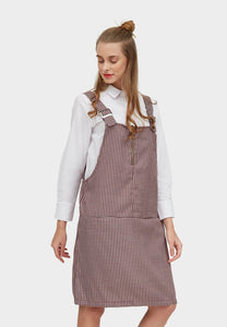 Odilia Maroon Plaid Overall - 361676  - Point One