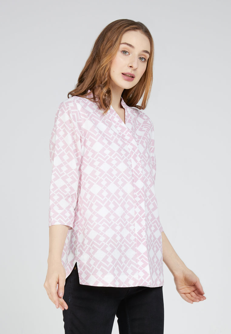 MARLY Aztec Pink Blouse 395481