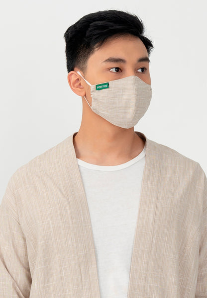 Point One Rune Khaki Outer Inc. Face Mask