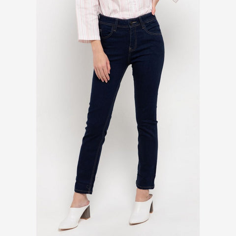 SELENA Raw Slim Fit Midrise Jeans - 307861
