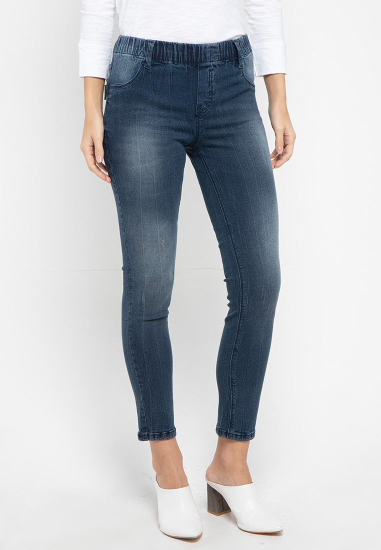 Sydney H Blue Black Air Stocking Jeans - 307061