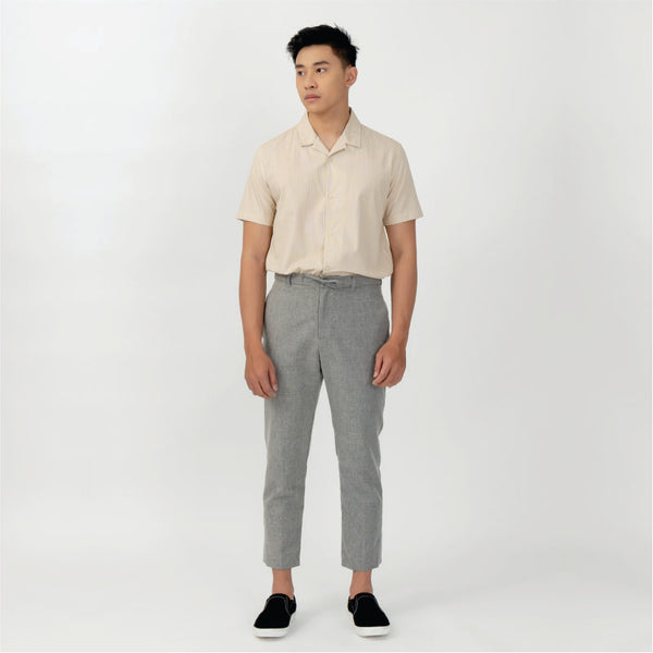 Point One Fredrik Long Pants Light Grey