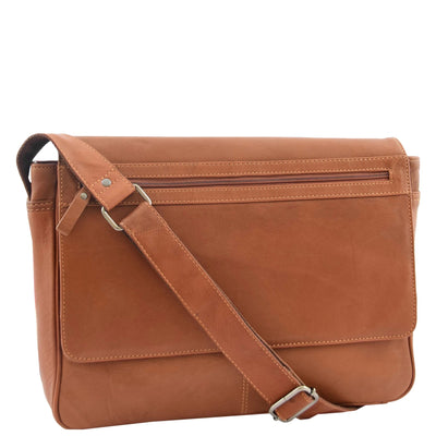 Choose Men's Leather Messenger Bag for Commuting with a Laptop