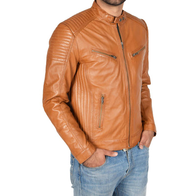 An Ideal Way to Look Fashionable by Mens Biker Leather Jacket