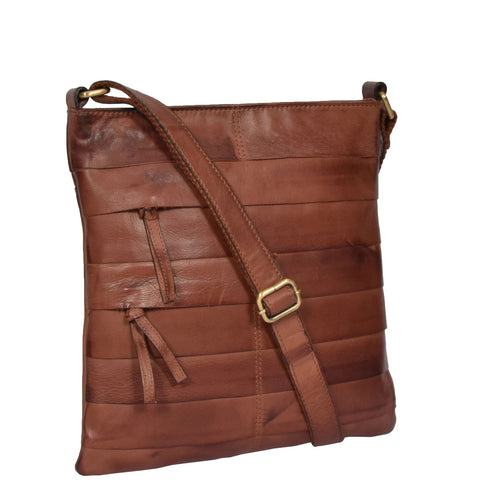 VINTAGE TAN SHOULDER CROSS BODY BAG