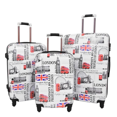 CITY OF LONDON 4 WHEEL SUITCASES